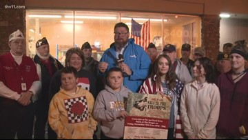 Kids explain importance of 'Feed the Vets'
