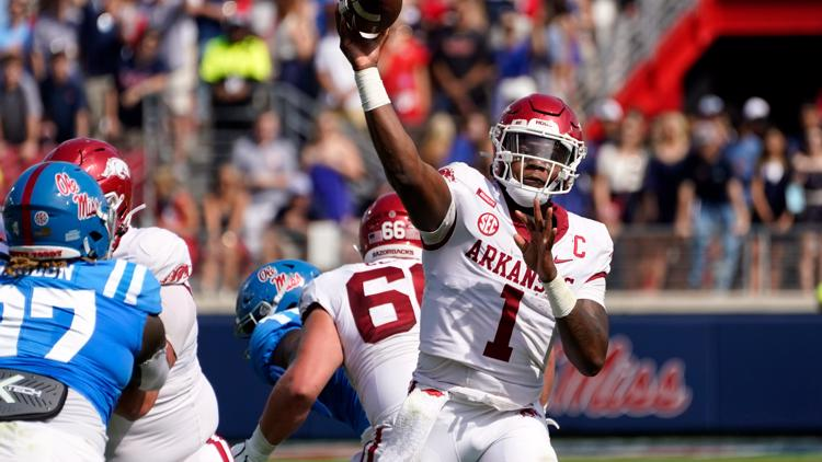 Arkansas falls to Ole Miss 52-51 in high scoring contest