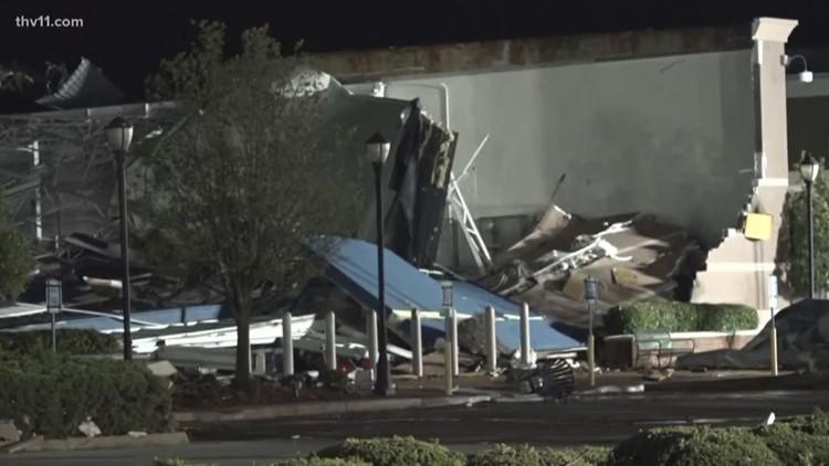 Violent tornado rips through Jonesboro