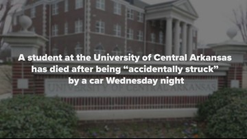UCA student dies after being struck by car