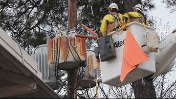 Friday night storm blows out power throughout the state