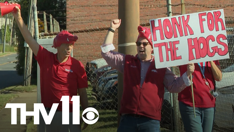 Craig O'Neill & Skot Covert get pumped for Razorback game against Texas A&M