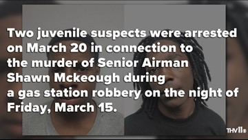 Two juveniles arrested in gas station murder of airman