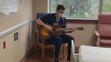 Nurse sings to patients and staff at Saline County Memorial Hospital