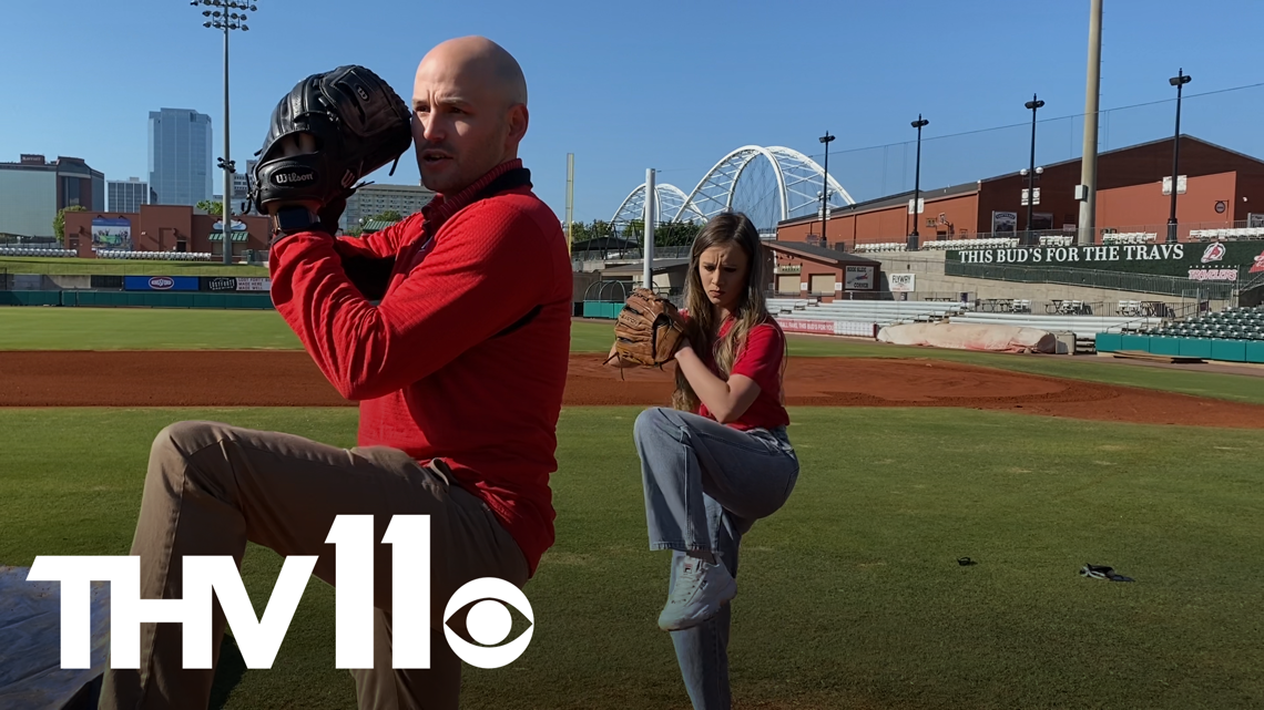 The Vine takes pitching lessons with the Arkansas Travelers