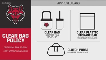 A-State implements clear bag policy
