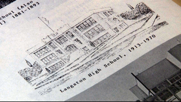 Original students from historical Arkansas high school return home