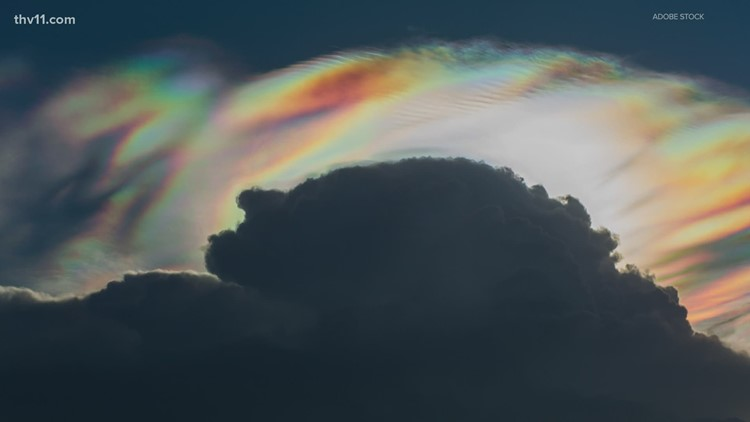 What are those rainbow-like features we see in the sky?