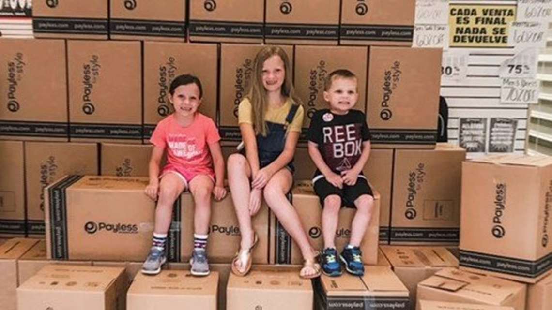 Arkansas family buys remaining shoes at Fort Smith Payless to donate to those in need