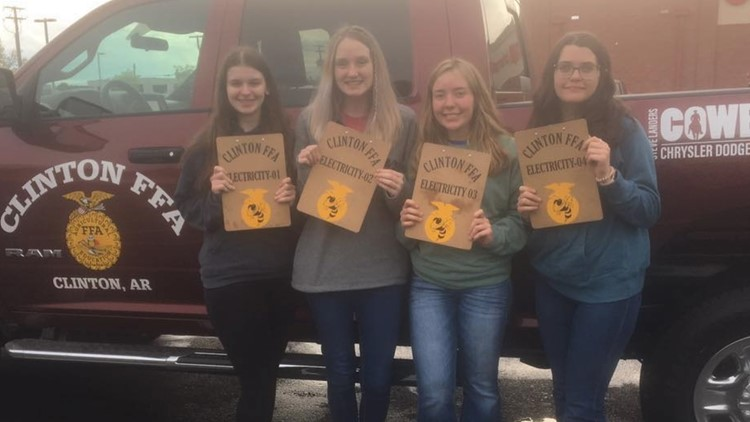 Clinton FFA team becomes first all-girl group to win 2 state competitions in electricity