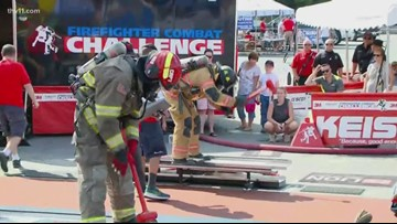 Firefighters gather for combat challenge