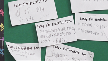 Teacher makes time every week for students to count their blessings