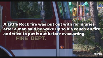 Little Rock fire spreads to a second building