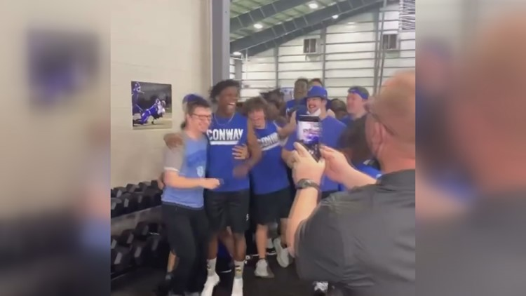 Conway football manager's vertical jump goes viral