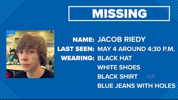 MISSING: Jacob Riedy was last seen May 4