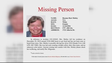 Little Rock missing since Dec. 29   May be in silver Honda - License: 402VBD