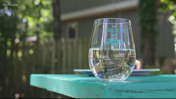 Turquoise tables bringing neighbors together