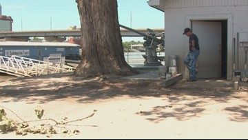 North Little Rock parks and rec works on Arkansas River flood damage
