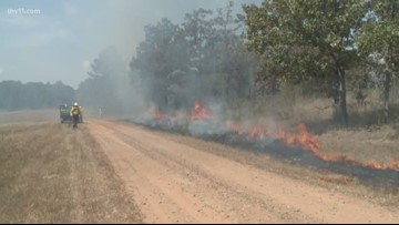 Prescribed burns in Hot Springs National Park
