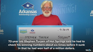 Hot Springs man wins half a million dollars on scratch-off ticket