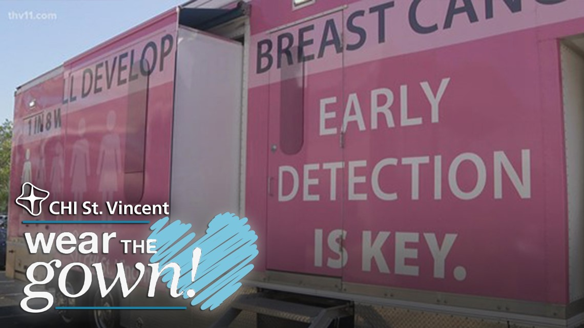 Mobile mammography unit from CHI St. Vincent Breast Center   Wear The Gown