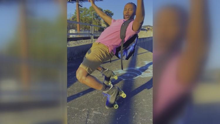 Arkansas native roller skates to stardom, going viral for social media videos