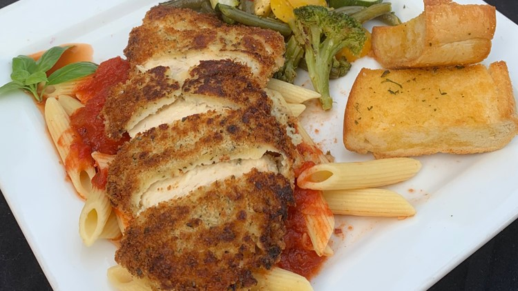 Easy dinner ideas: Breaded chicken with veggies