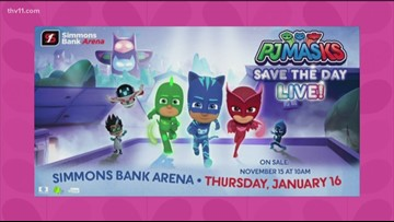PJ Masks Live coming to Simmons Bank Arena in January!