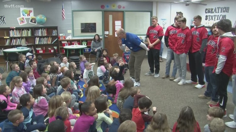 Cabot baseball players guest star on the Reading Roadtrip