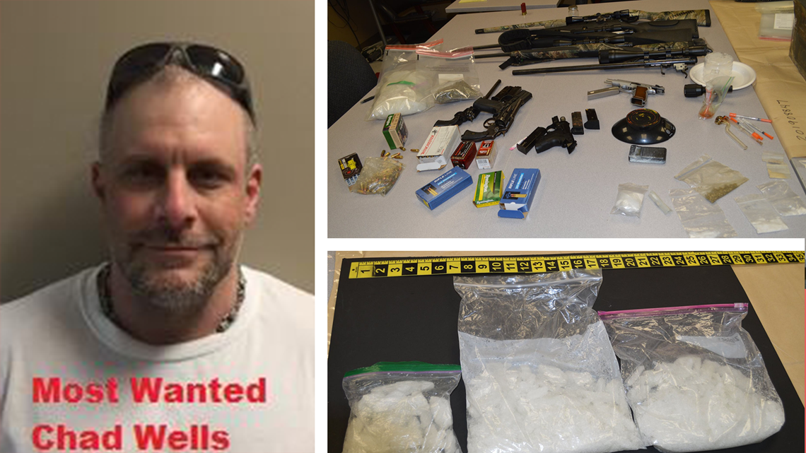 WANTED: Man who stole $200k worth in vehicles, guns, drugs, bomb found on property