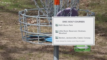 You can play disc golf and maintain social distance