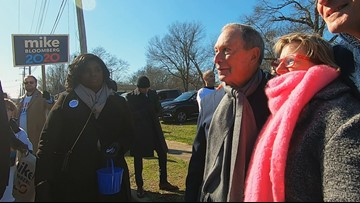 Mike Bloomberg makes MLK day campaign stop in Arkansas