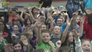Bryant Elementary students are full of confidence on the Reading Roadtrip