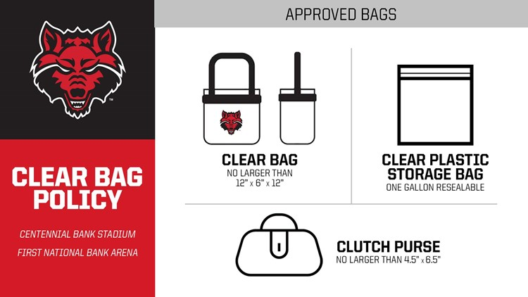 arkansas state clear bag policy