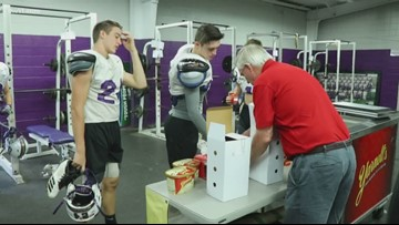 CAC celebrates Yarnell's Sweetest Play of the Week win with ice cream party