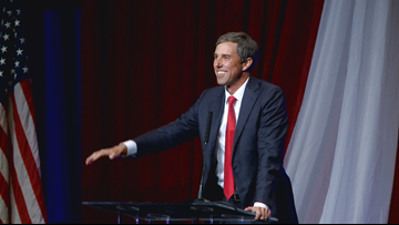 Democratic presidential candidate Beto O'Rourke speaks at Third Annual Clinton Dinner