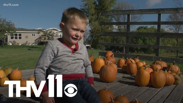 5-year-old boy gives back using money from his own pumpkin patch