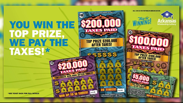 Arkansas lottery offers to pay taxes on new scratch-off prizes
