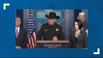 Texas sheriff says migrants are 'drunks' who will 'run over your children' during White House press briefing