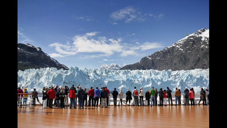 Nothing is more unique to Alaska than the massive glaciers, many of which are only accessible from the ship. Summer is the best month to enjoy the glaciers because this is the season they are most active. (Photo by Pixeljoy/Shutterstock)