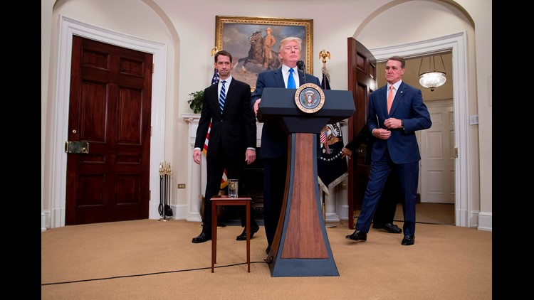 <p>President Donald Trump announced his support of legislation that seeks an immigration system basked on merit and skills instead of family connections. </p>