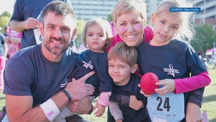 The entire Bibee family contributes to the Race for the Cure