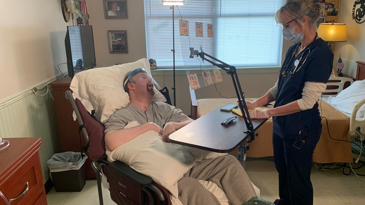 A Marine veteran woke up after an 8-year-long coma. Now he's locked inside his own body
