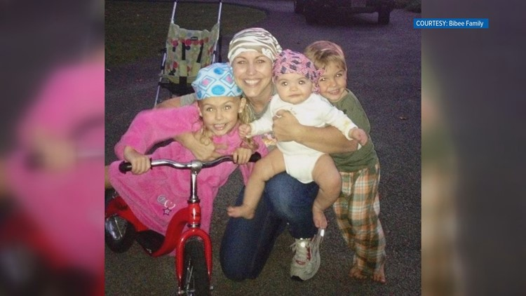 When Katy Bibee was diagnosed with breast cancer she had children who were 5, 3, and 3 months