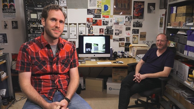 John Morton and Eric Dawson at TAMIS Tennessee Archive of Moving Image and Sound