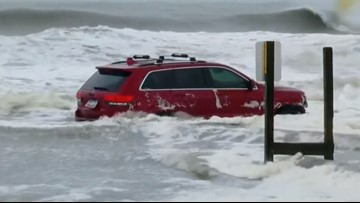 'Hey, we found your Jeep on the beach': Owner did not know his SUV was stuck in Dorian waves