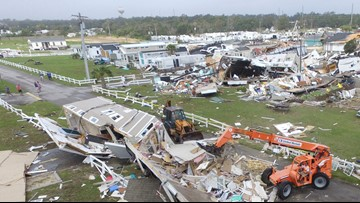 WATCH: Aerial video over Dorian's impact along the Carolina coast