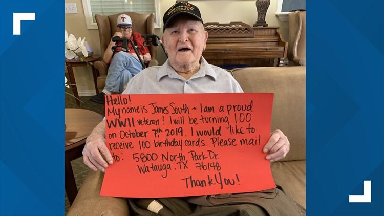 World War II Veteran hopes for 100 birthday cards for 100th birthday