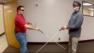 'Bird Box' challenge prompts nonprofit to encourage blind awareness training