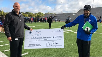 Jerry Jones donates $1 million to Texas high school after storms destroyed field